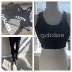 Adidas set size M top small pants